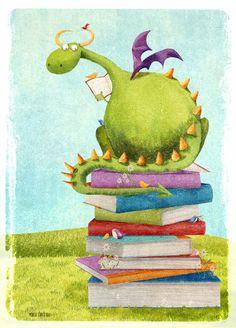 Cuaderno de viaje: Momo: Un dragón lector