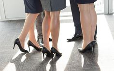 Women are being told by their bosses to put on more make-up, and wear high heels and short skirts to work, research has found.