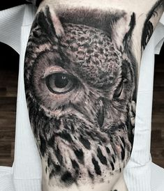 Photo by (yaa_ink) on Instagram | #realistictattoo #owltattoo #tattoo #ink #inked#blackngreytattoo #blackngrey #owl #dynamicink