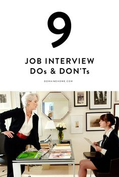 9 dos and don'ts of interviewing for a job