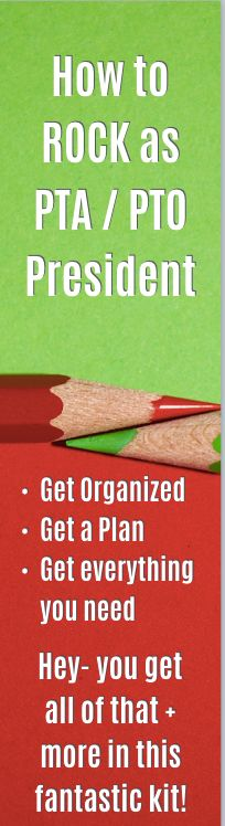 This PTA / PTO Planning + Organizing Kit has exactly what you need to have the best year as a PTO President.  It was designed by a 2 year PTA President and general PTA nerd who knew how to keep things organized, run PTA meetings and have smooth officer transitions plus everything else that goes into running a PTA or PTO.  Check it out today to have the best year ever with this kit that gives you all you'll need!