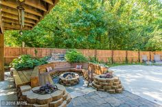 #Firepit seats 16 along side the inground heated #pool #RealEstate #Maryland Contact me today for a private showing!  www.michelle.jimbassgroup.com 301-606-3703
