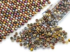 Artbeads Warm Metals Designer Blend, 11/0 TOHO Round Seed Beads
