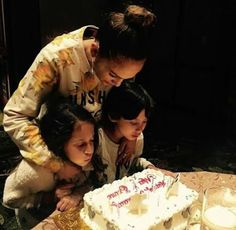 Jennifer Lopez celebrates her twins Emme and Max on their 8th birthday today