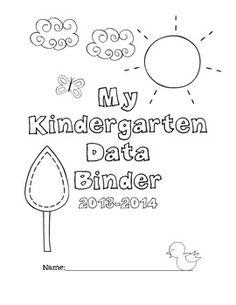 Kindergarten Data Binder for Math and Literacy - student led assessment binder!