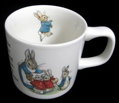 Peter Rabbit Mug Wedgwood Beatrix Potter English Made 1970s Bunnies Book Character Mug