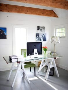 Is your home office sharing space with the family or living room? Professional organizer Vicki Norris gives tips to help you organize your home office no matter what room it's in.
