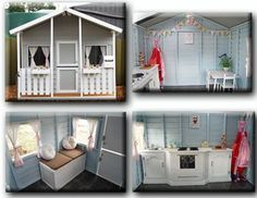 Decorated, painted, cubby house