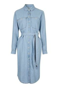 MOTO Midi Shirt Dress