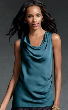 Drapes Again Tank- It was a perfect day to wear this pretty tank with a pair of boyfriend jeans Evening Attire, Body Love, Autumn Winter Fashion, Winter Style, Boyfriend Jeans, Designer, Athletic Tank Tops, Cool Outfits, Inspiration