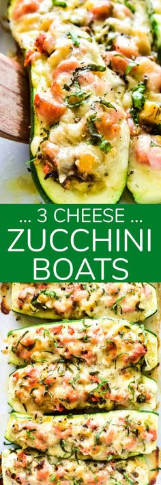 Zucchini Boats are a healthy dinner option with so many fun possibilities! This 3-Cheese version combines sauteed veggies with ricotta, mozzarella, and Parmesan cheeses in a delicious low-carb meal the whole family will love! Healthy Dinner Options, Pork Recipes For Dinner, Italian Dinner Recipes, Entree Recipes, Cooking Recipes, Healthy Recipes, Easy Recipes, Family Recipes, Amazing Recipes