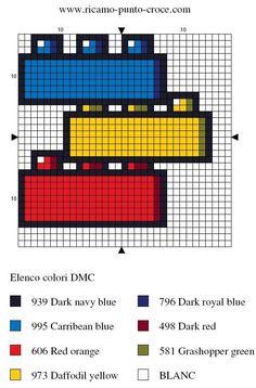 LEGO pattern hama perler beads