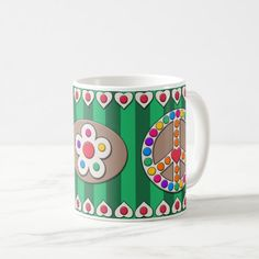 Summer Carnival Peace Sign Mug - Green Birthday Gifts For Boyfriend Diy, Boyfriend Gifts, Diy Father's Day Gifts, Valentine's Day Diy, 4th Of July Party, July 4th, Fashion Styles, Latest Fashion, Men's Fashion