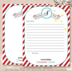 Personalized letter to santa and letter from santa printable santa letter to santa and letter from santa printable santa letter template by teamocharlie on etsy spiritdancerdesigns Images