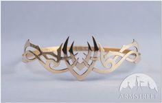 Medieval handmade brass crown headpiece fantasy art for sale