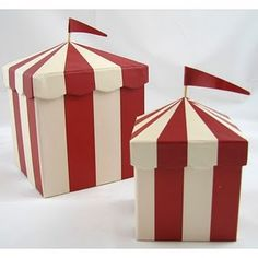 Boxes - Red and White stripe