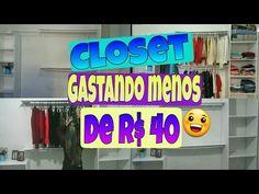 Faça você mesma / Diy : Closet gastando menos de R$40 - YouTube