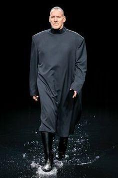 Balenciaga Ready To Wear Fall/Winter 2020 Paris - Fashionably Male Shirt Tucked In, Sweater Skirt, Runway Fashion, Paris Fashion, Unisex Fashion, Live Fashion, Kanye West, Black Men, Balenciaga