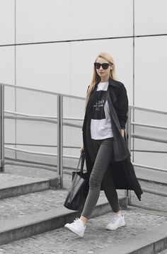 """the-streetstyle: """" grey jeans """""""