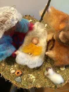 Needle felted Nativity Waldorf inspired Wool by DreamsLab3 on Etsy