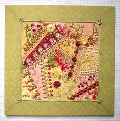 Crazy quilts | Crazy quilt mounted