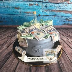 Specializing in your childhood favorite desserts with an island flair. Indulge in our cakes, cupcakes, cookies, muffins and more! Money Birthday Cake, Birthday Cake For Him, Money Cake, Birthday Event Ideas, Adult Birthday Party, Alcohol Cake, Online Bakery, Cake Stock, Crazy Cakes