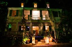 This is the back of the Audubon House at night   Key West   JHunter Photo