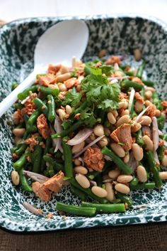 Green Bean and Salmon Salad - www.countrycleaver.com