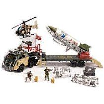 Military True Heroes Jumbo Rocket Transport Playset