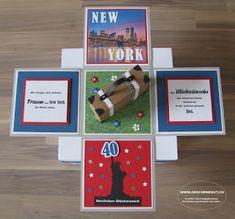 Geschenkbox New York Reisegutschein Geldgeschenk Geburtstag Explosionsbox Überraschungsbox