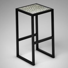 Ivory Vegetal Design Stool_Random White