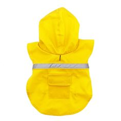 Our Official Dog Rain Jacket with Reflective Strip - Yellow is the perfect product for almost any pet at an exceptional value! Weekly promos with same day shipping! Large Dog Coats, Large Dogs, Rain Slicker, Dog Raincoat, Yellow Raincoat, Pet Paws, Wearing A Hat, Wet Weather, Dog Life