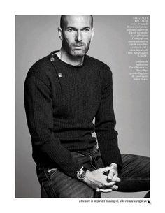 Zinedine Zidane at Vogue (and for Mango) | following Real Madrid...
