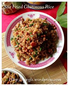 Stir Fried Glutinous Rice Dish (生炒腊味糯米饭). #guaishushu #kenneth_goh #stir_fried_glutinous_rice #生炒腊味糯米饭