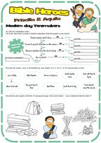 Free pdf worksheet for kids ministry on the story of Priscilla & Aquila as found in acts Part of a whole lesson available onsite. Bible Crafts For Kids, Bible Lessons For Kids, Priscilla And Aquila, Sunday School Projects, School Ideas, Kids Church, Church Camp, Church Ideas, Girls Bible