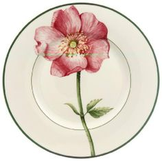 Villeroy & Boch Flora Wild Rose Design Salad Plate by Villeroy & Boch. $22.79. Wild rose pink bloom and bud as pretty as a summer rose garden. 8 1/4-inch diameter. Vitrified porcelain for strength and durability. Imported from Luxembourg and Germany. Salad Plate - Wild Rose - Multi-Color Floral Design - Made In Germany
