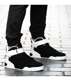 Men's #black casual lace up shoe #sneakers, velcro, leisure, sport occasions, breathable, Round toe design.