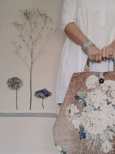 ...November has been a busy floral curating, gathering and making month... The new 'Winter' collection of The Linen Garden's Meandering ...
