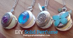 DIY Solid Perfume - TheHippyHomemaker.com These are fabulous handmade gifts!! Bridesmaids gifts, valentine's day gifts, Christmas gifts!
