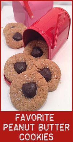 Secret Ingredient PB cookies- with dove hearts.