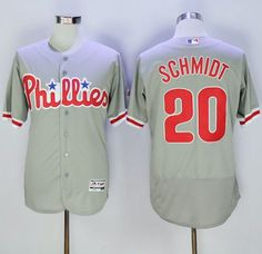 Phillies #20 Mike Schmidt Grey Flexbase Authentic Collection Stitched MLB Jersey