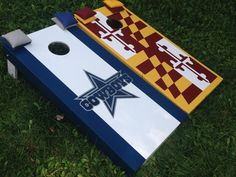 Dallas Cowboys and Redskin colored MD flag by BMore Corny