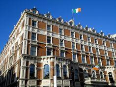 Shelbourne Hotel Shelbourne Hotel, Brick Facade, Emerald Isle, Dublin, Multi Story Building, Louvre, Street View, History, Architecture