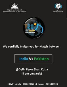 Tomorrow #India vs #Pakistan at T20 world Cup for blind 2017 ... #cricket #worldcup #T20 #T20worldcupforblind #allthebest #teamleo