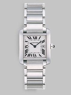 Cartier - Tank Francaise Stainless Steel Watch on Bracelet, Medium