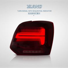 Vland Car Accessories Manufacturing Led Rear light For VW Polo Led Polo Tail Lamp with Sequential Indicator Led Tail Lights, Car Lights, Motorcycle Accessories, Car Accessories, Volkwagen Golf, Polo, Form Design, Volkswagen, Wheels