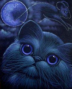 """Black Persian Cat Halloween Night"" par Cyra R. Cancel"