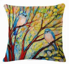 Home Decor Pillow Case Oil Painting Sofa Cushion Tree Orange Decoration Two Bird  http://www.ebay.com/itm/152345975837  #ebay #paypal #worldwidefinest #Home #Decor #Pillow #Case #Oil #Painting #Sofa #Cushion #Tree #Orange #Decoration #Two #Bird #Home