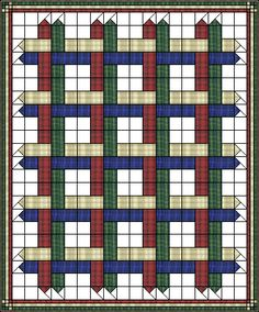 "Woven Ribbons Quilt 4X5 12"" blocks 1 Block comprises of one 3½""X10"" strip ea Colour 1-4 (Red, neutral, green, blue) Color 5 (white) one strip 3½"" x 14"""