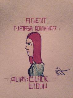 Agent Natasha Romanoff by Miluiel (@Jesusandhobbits)